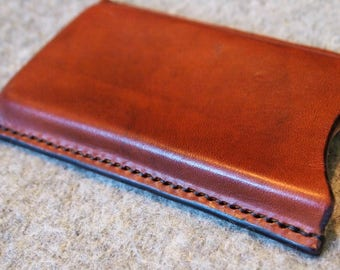 iPhone X case, handmade in leather