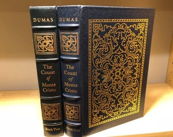 Easton Press Count of Monte Cristo by Alexandre Dumas 2 vol Famous Edition