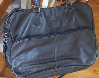 Vintage MATRAS STYLE Leather Holdall with combined Suit Carrier.