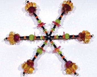 Beaded Snowflake Ornament No.17