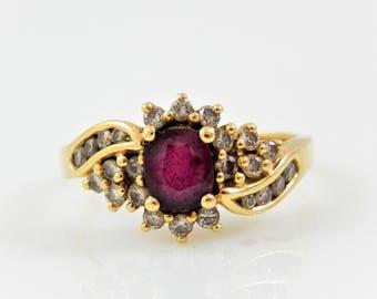 14K Ruby & Diamond Ring - X2145