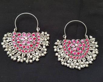 Indian earrings Rajastani earrings Afghani earrings dangle earrings drop earrings tribal ethnic earrings boho earrings gifts for her