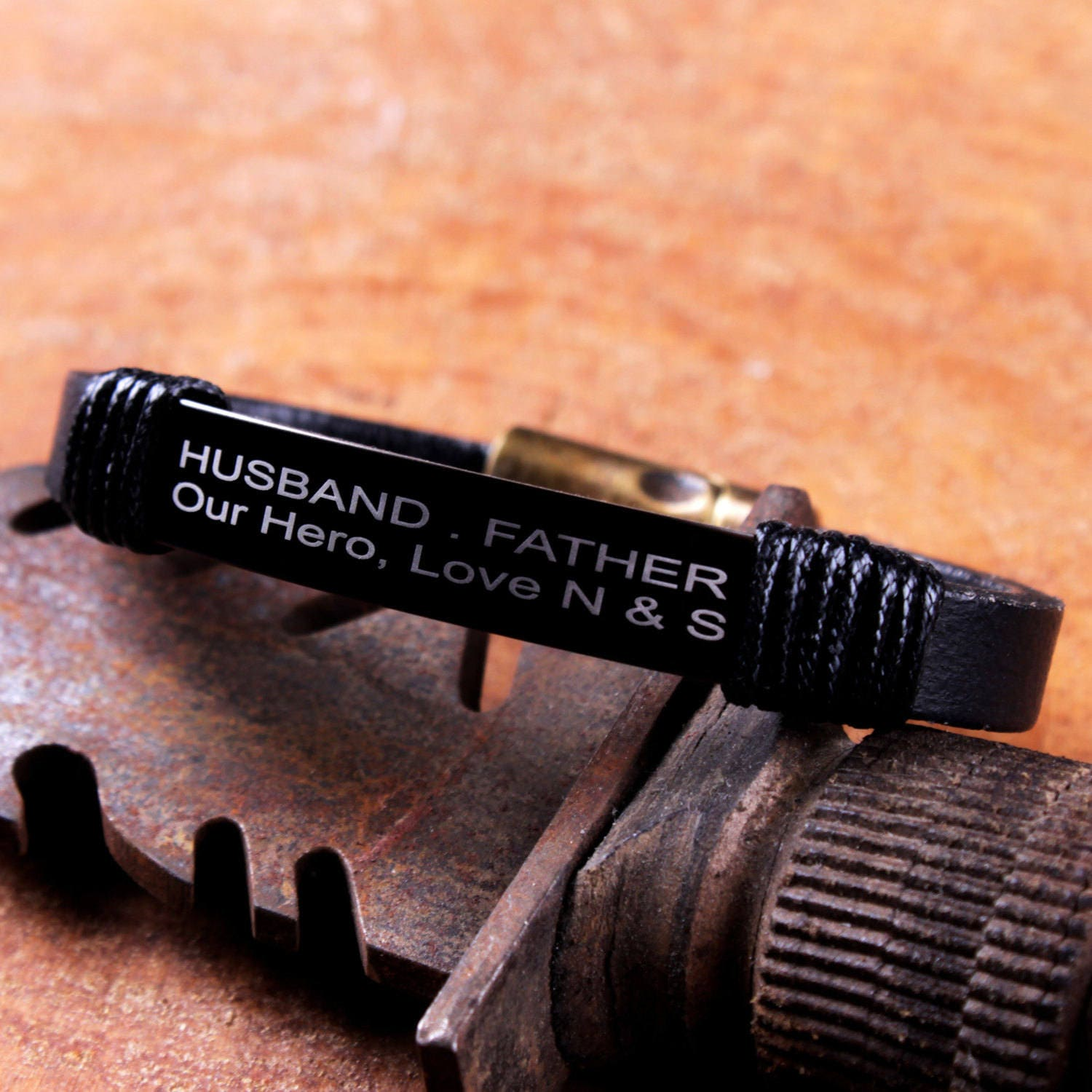 Father Son Love Quotes Personalized Leather Husband Gift Dad Quotes  Father Daughter
