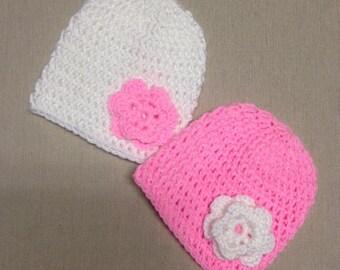 Crochet Baby Head Caps For Newborns Set of Two