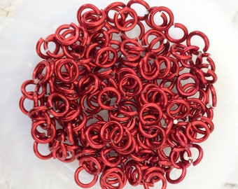"18g 3/16 ""chainmaille saw cut jump rings, rode jump rings, chainmaille supplies, jewelry supplies, rode chainmaille rings, Tessa's chainmail"