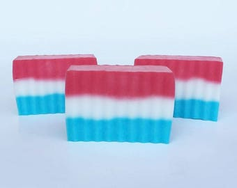 Red, White and Blue Soap