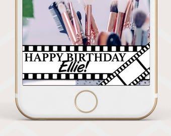 Movie Reel Geofilter, Movie night Birthday Snapchat geofilter, film reel snapchat geofilter, movie birthday geofilter, movie night B47