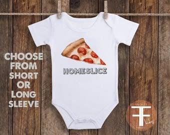 Homeslice Onesie, Pizza Onesie, Funny Onesie, Funny Baby Onesie, Funny Kid Clothes, Homeslice Shirt, Hipster Baby, Pizza Shirt, Unique Gift