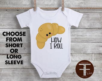 How I Roll ONESIE®, Thats How I Roll, This Is How I Roll Shirt, Funny Baby Onesie, Funny Onesie, Unique Baby Clothes, Baby Boy, Baby Girl