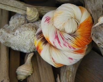 Hand Dyed Sock Yarn - Spot On