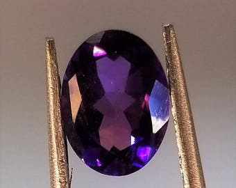8mm x 6mm Oval Faceted Amethyst Cabochon, Faceted Amethyst, Amethyst Cabochon, Amethyst