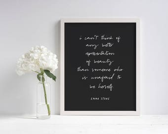 Beauty Motivational Printable (Black) | Printable Wall Art | Black and White | Printable Quote | Home Decor | Gift For Her