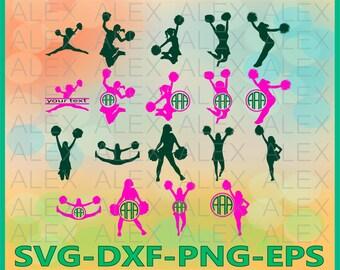70% OFF, Cheerleader SVG, Cheerleader Monogram Svg, Cheerleader Split Monogram Svg, Cheer svg, Cheer Svg, Dxf,Eps,Png files, Silhouette