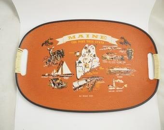 Vintage Maine Souvenir Tourist Tray