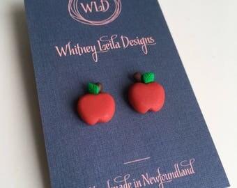 Teacher Apple Earrings
