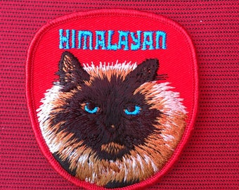 Beautiful HIMALAYAN CAT PATCH Detailed Stitching L@@K Unique Cat