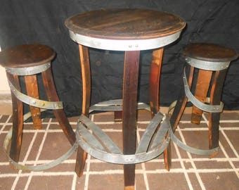Bistro Table with two stools