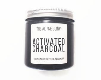 Activated Charcoal - 4OZ - Charcoal Mask - DIY Beauty - Vegan Skincare