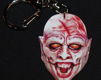 vampire head key chain