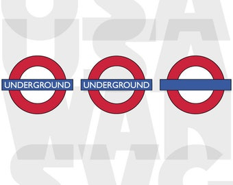 London Underground logo svg, London Underground png, London Underground dxf, London Underground monogram die cut sign instant download