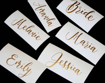 Custom name decal for Glass/ DIY Decal/ Personalized Custom Yeti Decal/ Bridesmaid Gift/ Name Decal/ Wedding Sticker/ Bachelorette party