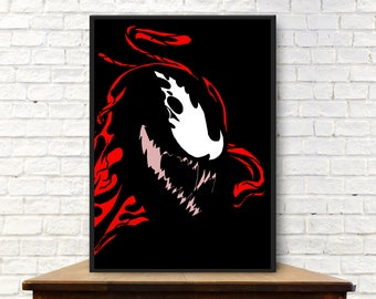 Carnage Poster Carnage Poster Minimalist Poster Carnage Print Carnage Wall Art Carnage Gift Carnage Minimal Print Carnage Art