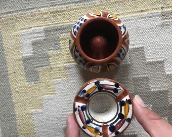 Tonala pottery ash tray , mexican pottery