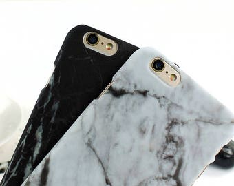 Black Marble Matte iPhone Case | iPhone 7/6/6S