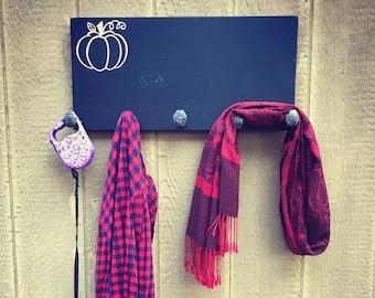 Coat Rack Chalkboard - Thanksgiving Decor - Fall Decor - Pumpkins - Chalkboard - Fall Sign - Pumpkin Plaque - Fall Plaque - Turkey Day -
