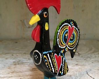 Painted Metal Rooster