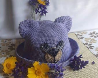 Summer hat crocheted, Hat crocheted, Hats- little animals, Summer hat, Hat for children, Stylish hat, Summer hat, crocheted hat, Panama