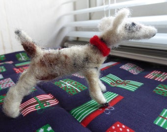 Tony the Terrier - Needle felted dog- Woollen pup - Pet sculpture- Pet portrait