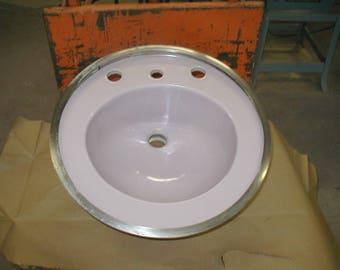 Purple Bathroom Sink Lavender Vintage Original Porcelain Sink Made By Rheem  Misty Lilac Very Rare Color