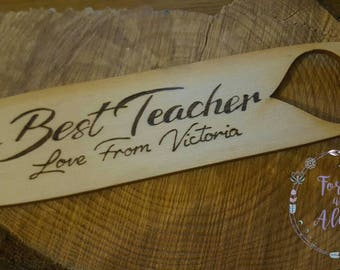 Teachers Gifts, Best Teacher, Bookmark, Thank you, Teacher, Custom gifts, Personalised Gifts, school, Teach,