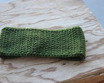 Ear Warmer - Dark Leaf Green