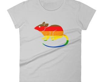 Philadelphia Pride Flag Rat Women's short sleeve t-shirt  lgbt lgbtqipa lgbtq mogai pride flag