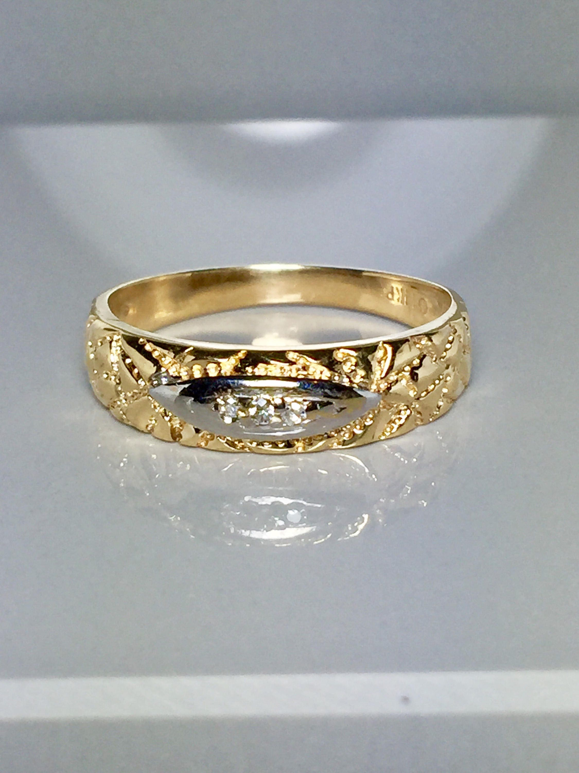 14k Solid Gold Men s Wedding Band Rings Gold Rings For