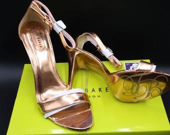 Ted Baker Women's Juliennas Dress Sandal, Light Pink/Metallic, 9 M US  Color: Light Pink/Metallic