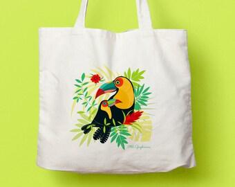 """Canvas tote bag / tote bag """"Toucan"""""""