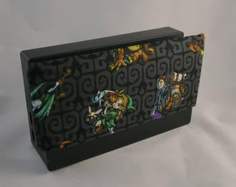 Link Switch Dock Sock - Dock Cover Cotton Cover Sleeve - Legend of Zelda - Black Pattern - Dock Protector - Cozy - Video Games Gift for Xmas