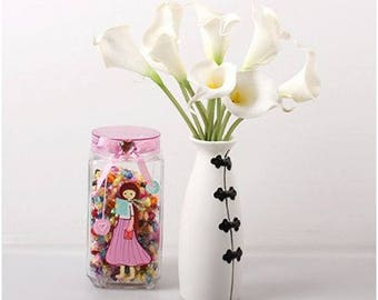 30 Pcs Decorative PU Real Touch Calla Lily Flowers