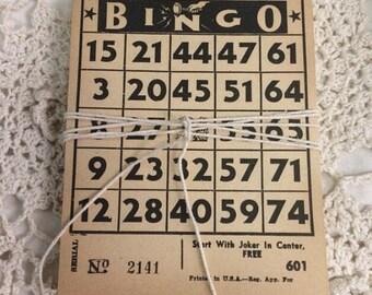 Antique Bingo Sheets | Deck of Bingo Cards