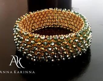 Green Crystal Bracelet / Crystal Bracelet / Green Bracelet