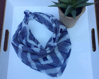 Blue Diamond Textile Dog Bandana