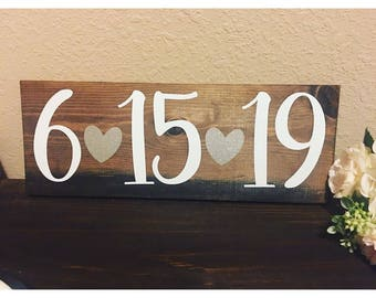 Rustic Wedding Date Sign
