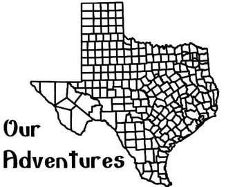 "Texas - Our Adventures Vinyl Decal (10"" x 9.8"")"