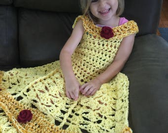 Princess dress blanket - ready to ship