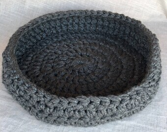 Cosy Dog Bed | Cosy Pet Bed | Dog Basket | Pet Basket | Crochet Dog Bed | Dark Grey |