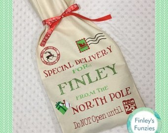 Special delivery personalized Santa sack