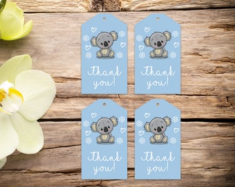 Baby Boy Shower Tags, baby shower favors, baby shower, favor tags, party tags, thank you tags, party favor tags, printable tags